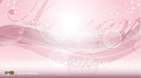 Pink Glamorous fragrance sparkling effects background. Vector illustration Royalty Free Stock Image