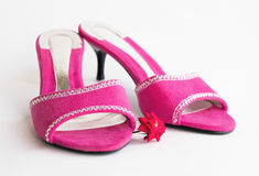 Pink glamour shoes Royalty Free Stock Image