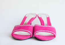 Pink glamour shoes Royalty Free Stock Images
