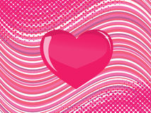 Pink  glass heart Stock Photo