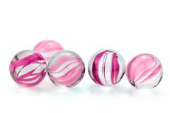 Pink, glass marbles Stock Image