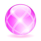 Pink glass orb. Vector illustration Royalty Free Stock Photos