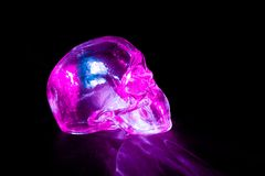 Pink glass skull Royalty Free Stock Photo