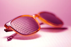 Pink glasses Stock Photography