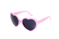 Pink glasses  heart isolated on white Stock Photo