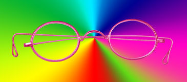 Pink glasses Royalty Free Stock Photography
