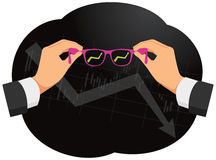 Pink glasses Stock Image