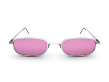 Pink glasses. Stock Images