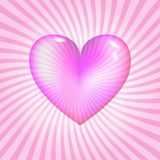 Pink glassy heart Stock Images