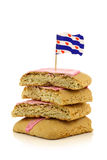 Pink glazed pastry called fondant koek Stock Photography