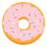 Pink glazed ring doughnut Royalty Free Stock Photography