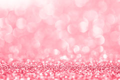 Pink glitter for abstract background stock image
