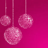 Pink glitter balls Stock Photos