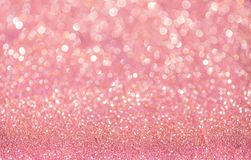 Pink glitter christmas abstract Stock Photography