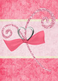 Pink Glitter Design on Pink Background Stock Photo