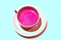 Pink Glitter Drink Stock Photo