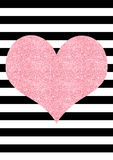 Pink glitter effect heart black and white striped background Royalty Free Stock Photo