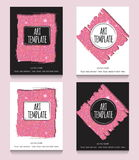 Pink glitter flyer template Royalty Free Stock Photo