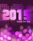 Pink glitter 2015 greeting. Happy New year 2015 in pink glitter Stock Photos