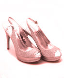 Pink Glitter shoes Stock Photography