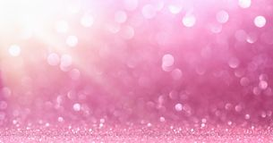Pink Glitter With Sparkle Stock Photography