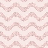 Pink glitter vector seamless pattern with wavy lines, stripes. Festive Christmas background. Pink glitter vector seamless pattern. Elegant geometric wallpaper Stock Image