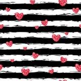 Pink glittering hearts pattern Royalty Free Stock Photo