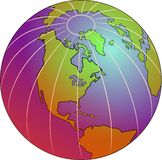 Pink Globe Royalty Free Stock Photo
