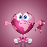 Pink globe for breast cancer Royalty Free Stock Photo