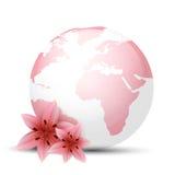 Pink Globe Royalty Free Stock Photo