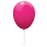 Pink glossy balloon Royalty Free Stock Images