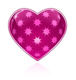 Pink Glossy Heart Stock Photography