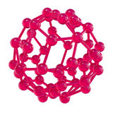 Pink glossy molecular structure sphere Stock Photo