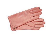 Female Pink glove isolated on white Stock Photos