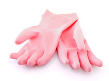 Pink gloves Stock Photos