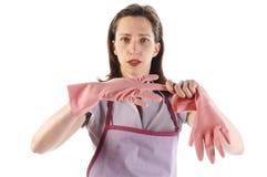 Pink gloves Royalty Free Stock Image