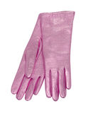 Pink gloves Royalty Free Stock Image
