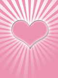 Pink glowing heart Royalty Free Stock Photo