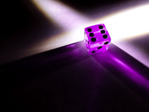 Pink Glowing Translucent Dice Stock Photography