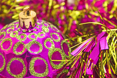 Pink gold ball Stock Image