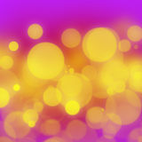 Pink gold bokeh. An abstract background with bokeh effect Stock Images