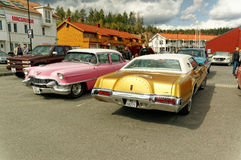Pink and gold cars Royalty Free Stock Photography