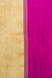 Pink and gold fabric Royalty Free Stock Photos