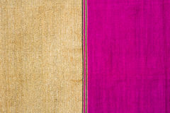 Pink and gold fabric Royalty Free Stock Image
