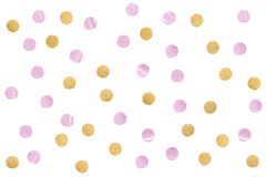 Free Pink Gold Glitter Confetti Paper Cut On White Background Stock Image - 122188361