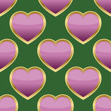 Pink & Gold Heart Seamless Pattern Royalty Free Stock Photography