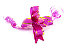 Pink and Gold satin ribbon Royalty Free Stock Image