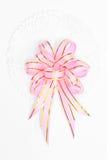 Pink and gold satin ribbons Royalty Free Stock Photos