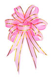 Pink and gold satin ribbons Royalty Free Stock Photo