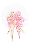 Pink and gold satin ribbons Stock Photography